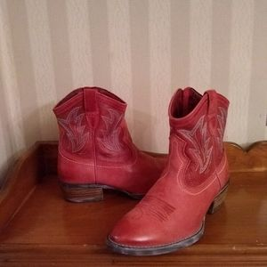 Ariat Red Cowgirl Ankle Boots
